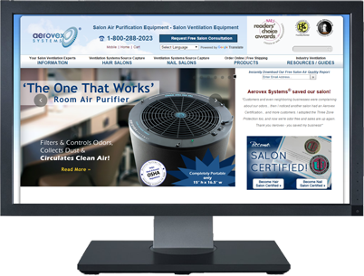 Web Design for Aerovex Systems
