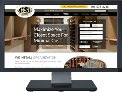 Web Design for Closet Supply Inc