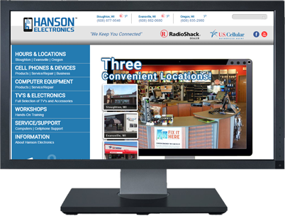 Web Design for Hanson Electronics