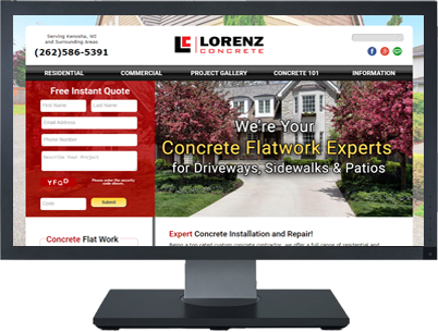 Web Design for Lorenz Concrete