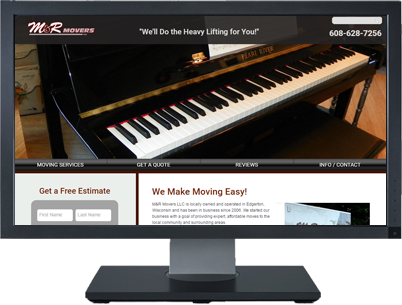 Web Design for MR Movers