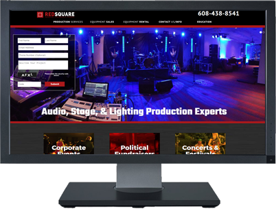 Web Design for Redsquare Audio