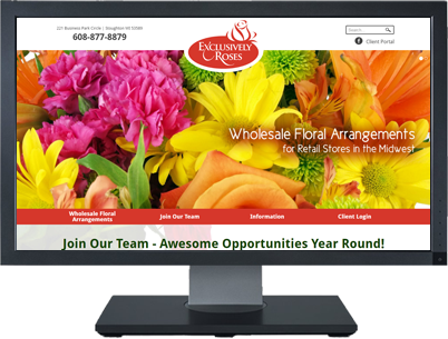 Web Design for Exclusively Roses