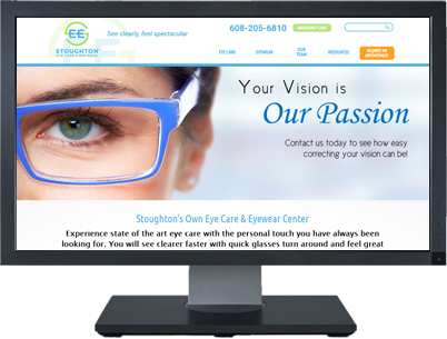 Web Design for Stoughton Eye Care & Eyewear