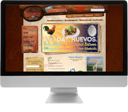 Madison Web Design for Pasquals Cantina Web Design