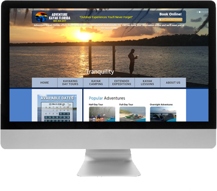 Madison Web Design for Adventure Kayak Florida