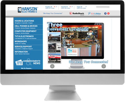 Madison Web Design for Hanson Electronics