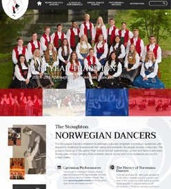Stoughton Norwegian Dancers Website Design