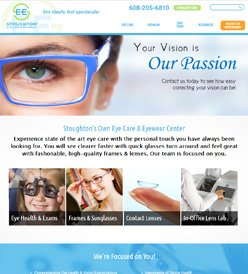 Stoughton Eye Care Website Design